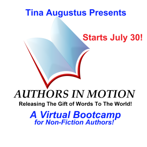 Authors In Motion small Virtual Bootcamp July 30