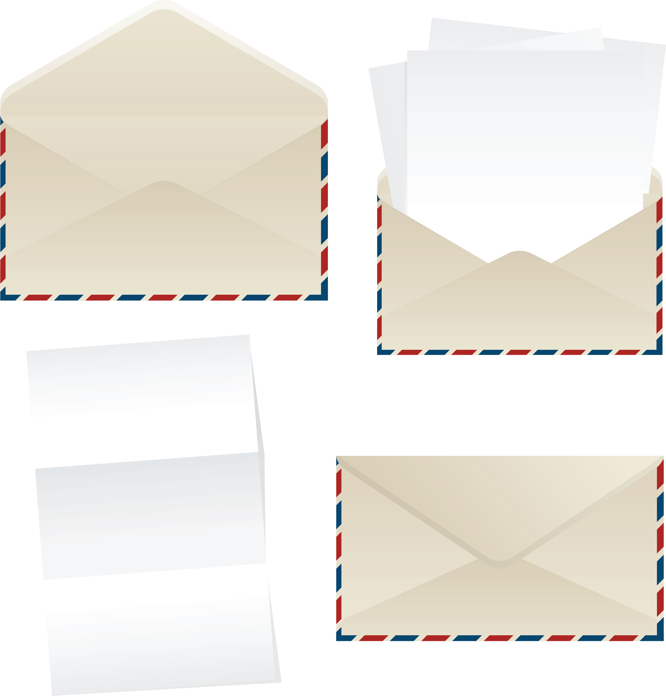 envelope_and_paper_sheets